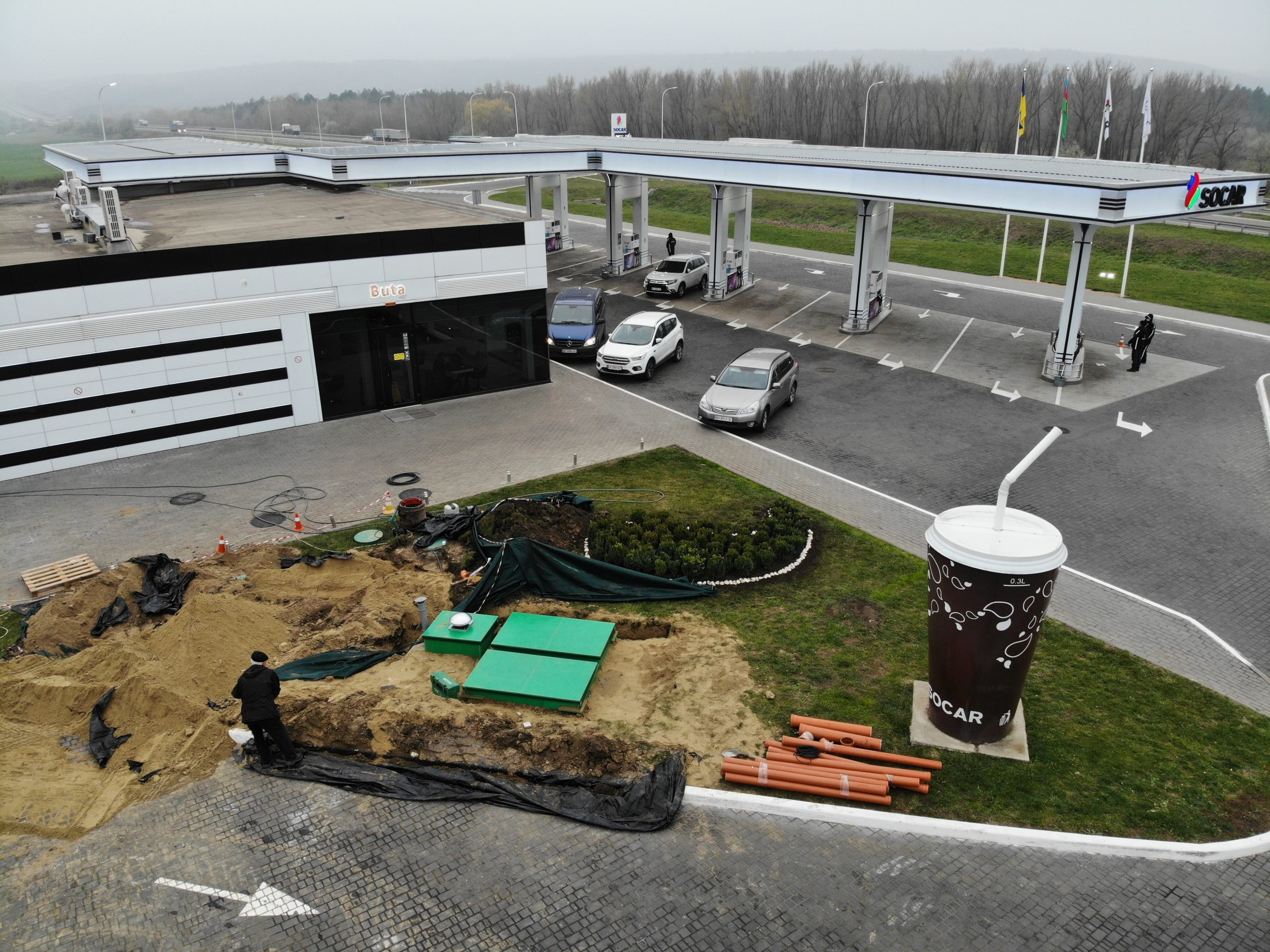 Автономная канализация TOPAS UKRAINE для комплексов по обслуживанию и ремонту автомобилей